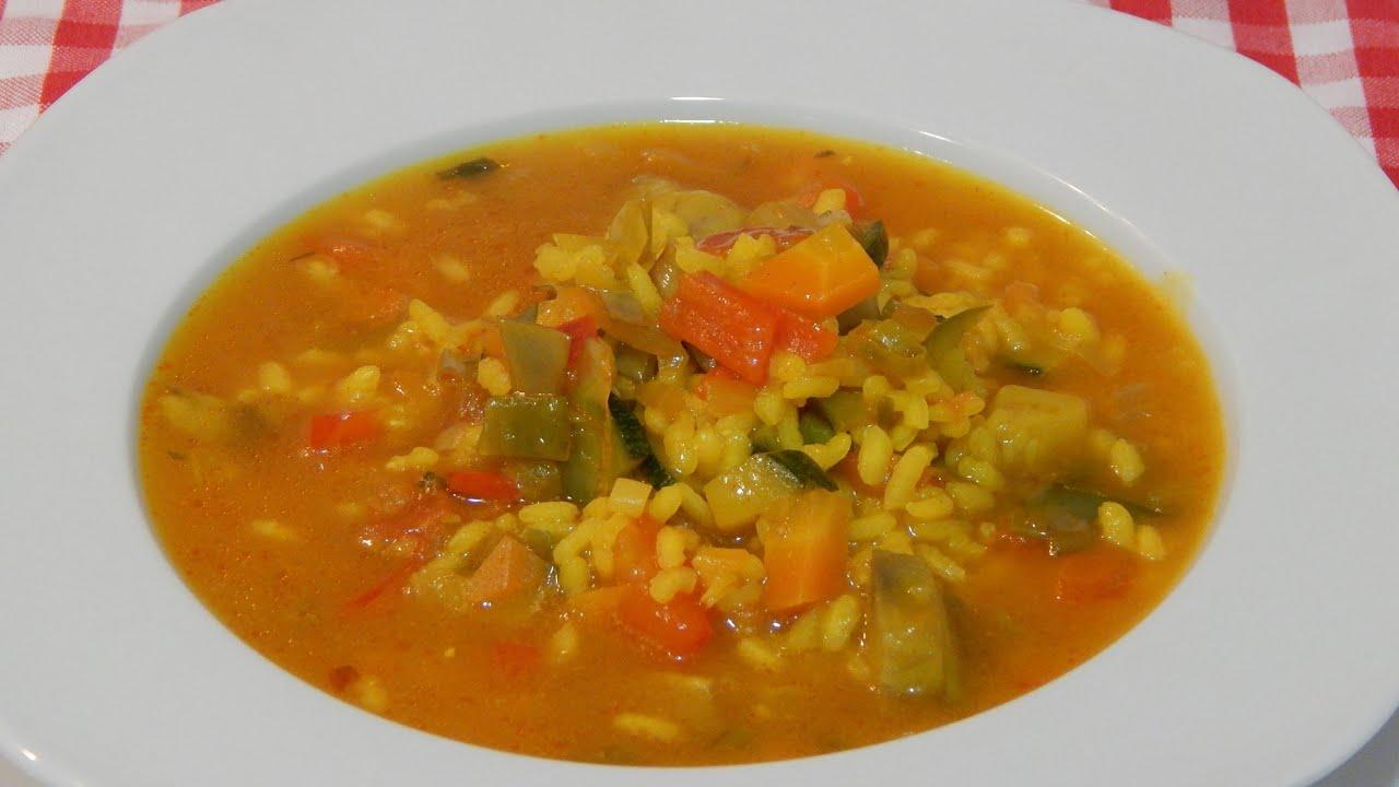 Arroz caldoso con verduras receta f cil y r pida youtube - Arroz con verduras y costillas ...