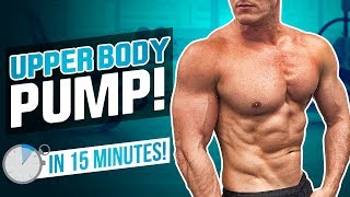 CHEST, BACK & SHOULDERS IN 15 MINUTES! FOLLOW ALONG   FAT BURN
