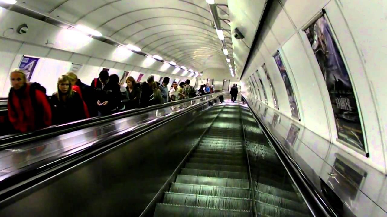 The longest escalator in Europe, Náměstí Míru metro station, Prague, Czech Republic - YouTube