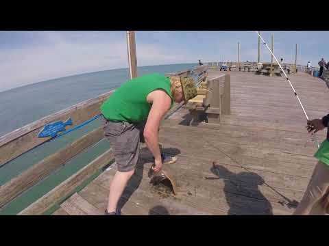 First Time Salt Water Fishing (Avalon Fishing Pier OBX)
