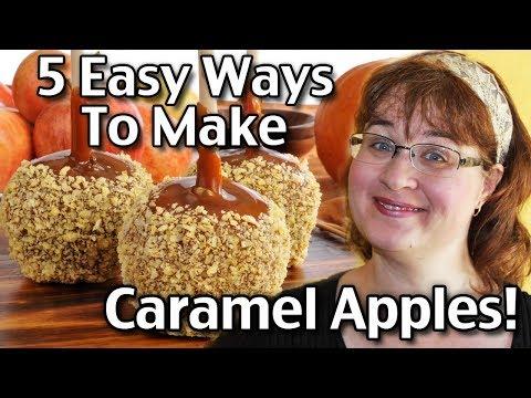 5 Easy Ways To Make Caramel Apples!