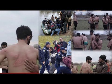 How refugees Crossing Turkey and Greece River Border From Edirne