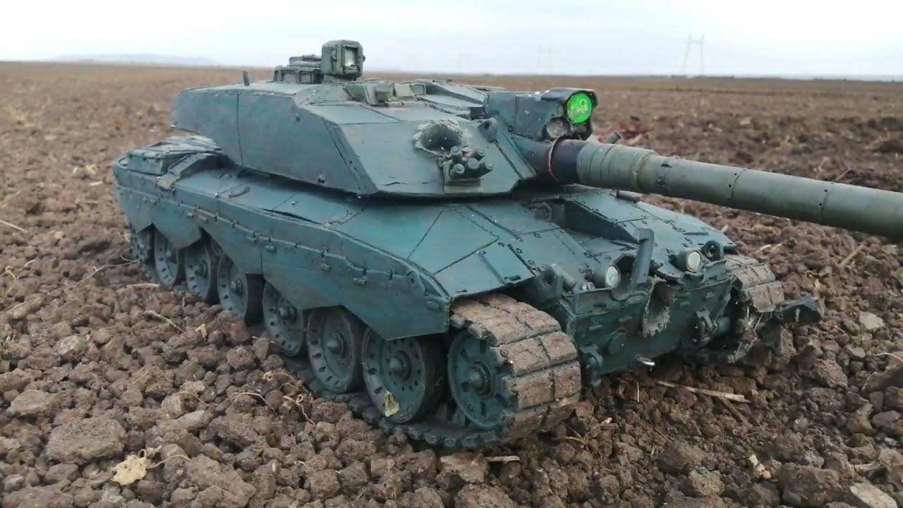 Tank Challenger 2 Rheinmetall 130 mm жесткая утилизация