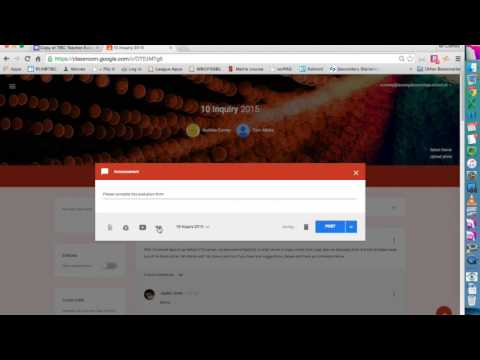 Using Google Forms for Teacher evaluations