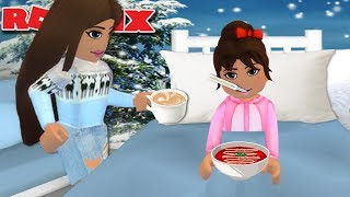 MY DAUGHTER FEELS SICK | Bloxburg Sick Day | Roblox Family