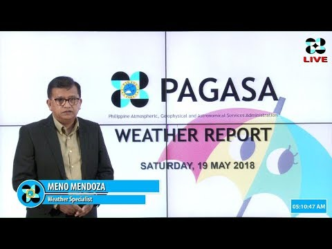 Public Weather Forecast Issued at 4:00 AM May 18, 2018