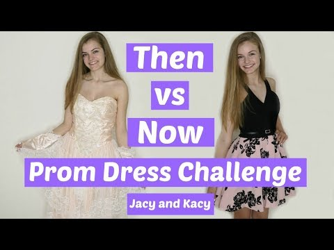 Then vs Now Prom Dress Challenge ~ Jacy and Kacy