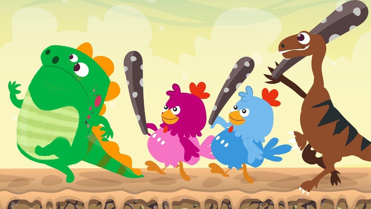 Dino E Dina Dinossauros E As Visitas Desenho Animado Com