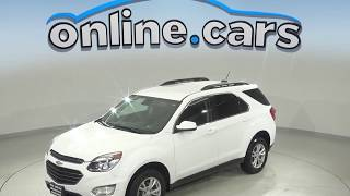 A99914NC Used 2017 Chevrolet Equinox LT AWD SUV White Test Drive, Review, For Sale