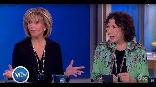Repeat youtube video Jane Fonda, Lily Tomlin Talk 'Grace and Frankie,' Activism, & More | The View