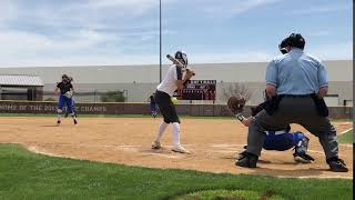 Throw-out at 2nd vs Lewisville HS 3/24/18