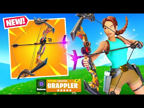 *NEW* GRAPPLER BOW in Fortnite! (OVERPOWERED!)