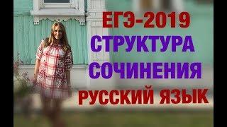 ЕГЭ 2019  Структура сочинения по русскому языку