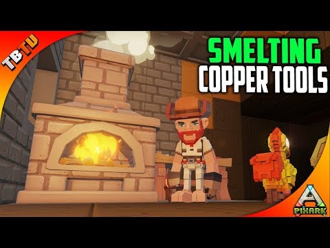 SMELTING COPPER TOOLS! ROOF BRONTO OF DEATH! PixARK Gameplay E4