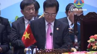 Lao News on LNTV-CLV leaders to promote for supporting Development Triangle 13-03-2013