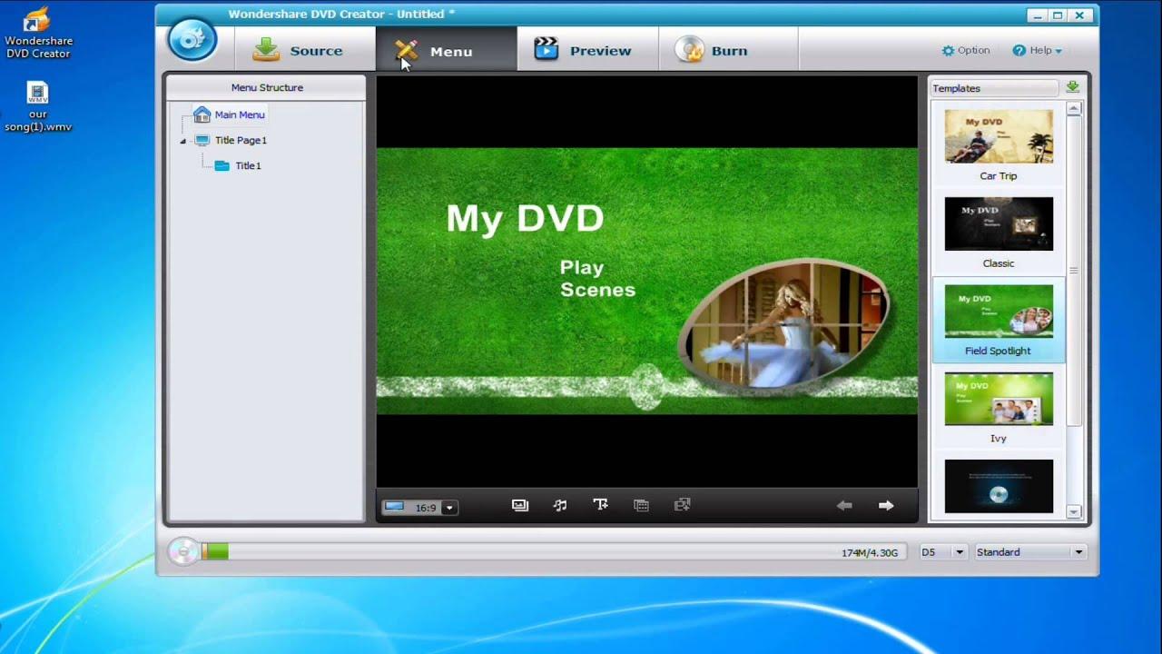 How to use Wondershare DVD creator - YouTube
