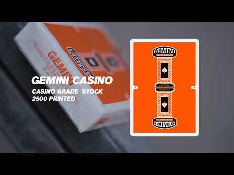 Gemini Casino Orange edition Playing Cards