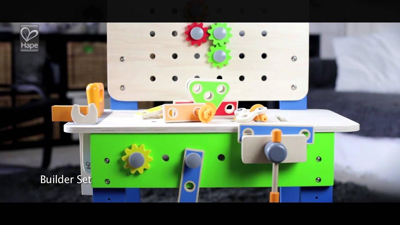 Banco Di Lavoro Meccanico : Hape banco di lavoro master e con accessori youtube