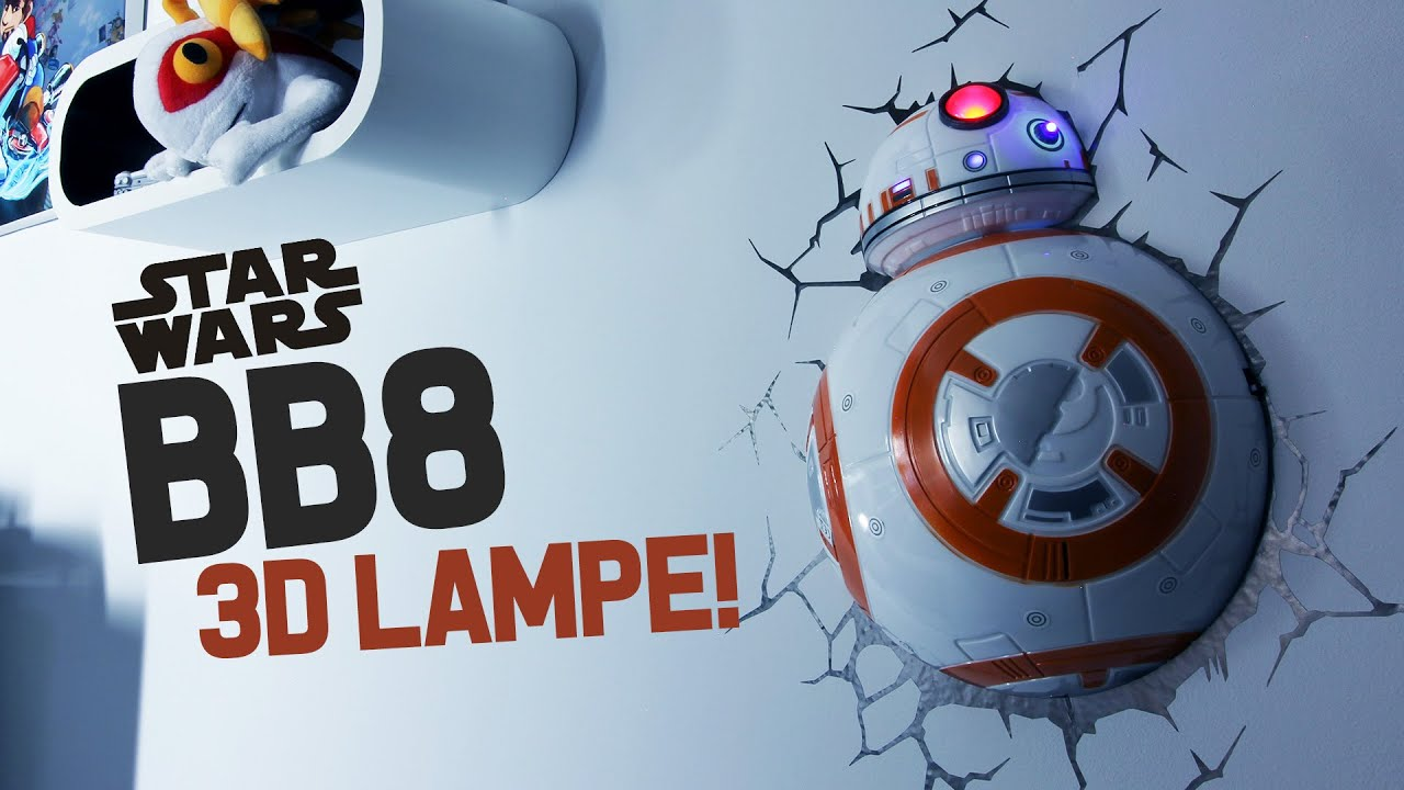 bb8 star wars 3d lampe wie geil ist das denn youtube. Black Bedroom Furniture Sets. Home Design Ideas