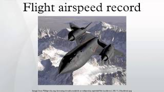 Flight airspeed record