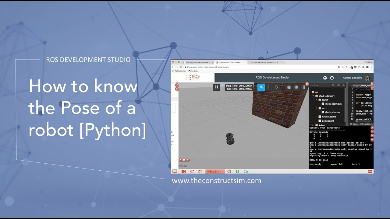 [ROS Q&A] 041 - How to know the Pose of a robot [Python]