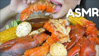 ASMR SEAFOOD BOIL With Bloves Mild Seafood Sauce *No Talking Eating Sounds   N.E ASMR