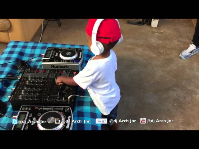 This two year old is better than most professional DJs