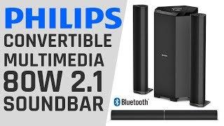 Philips 2.1 80W Multimedia Soundbar Unboxing and Sound Test   Best Soundbar 2019 Under 8000 INR ??