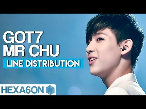 GOT7 - Mr Chu Line Distribution (Color Coded) Idol Cover Project