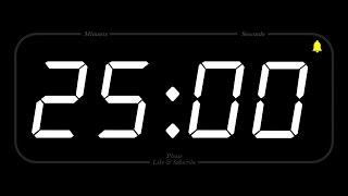 25 MINUTE - TIMER & ALARM - Full HD - COUNTDOWN
