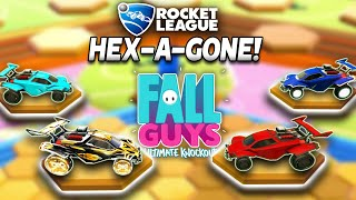 FALL GUYS HEX-A-GONE IN ROCKET LEAGUE IS INSANE | *NEW*