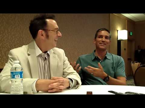 With Michael Emerson & Jim Caviezel of CBS' Person of Interest at ComicCon 2012