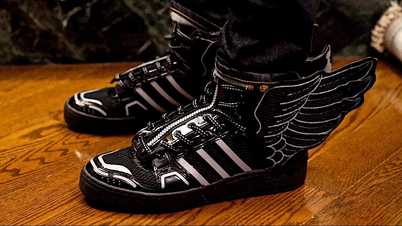 a2853a9ddd82 Adidas Jeremy Scott JS Wings 2.0 Mesh Sneaker Preview On Foot Review ...