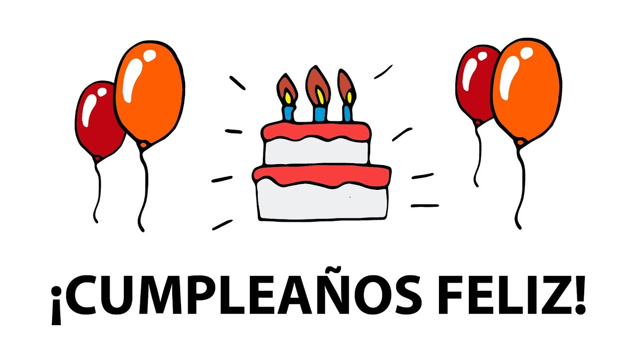 Cancion Cumpleanos Feliz Con Letra Y Dibujos Youtube