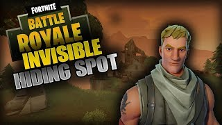 NEW FORTNITE INSANE HIDING GLITCH SPOT (Fortnite Battle Royale)
