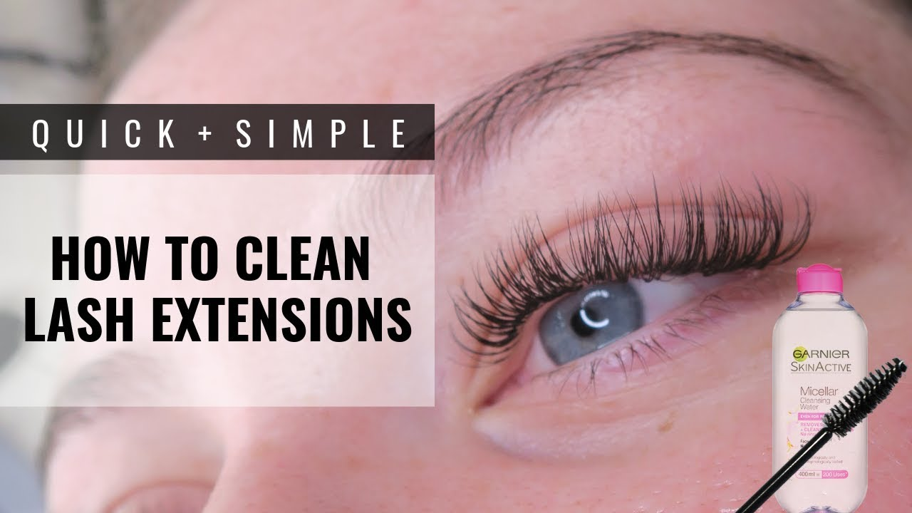 7053bcc82fa HOW TO CLEAN LASH EXTENSIONS - YouTube