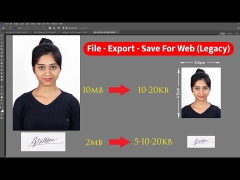 10mb To 10-20kb Resize Photo Save In Photoshop Tutorial Hindi