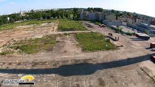 Przegląd komina przemysłowego wykonany dronem