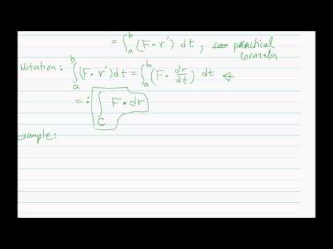 Line Integrals of Vector Fields: Introduction
