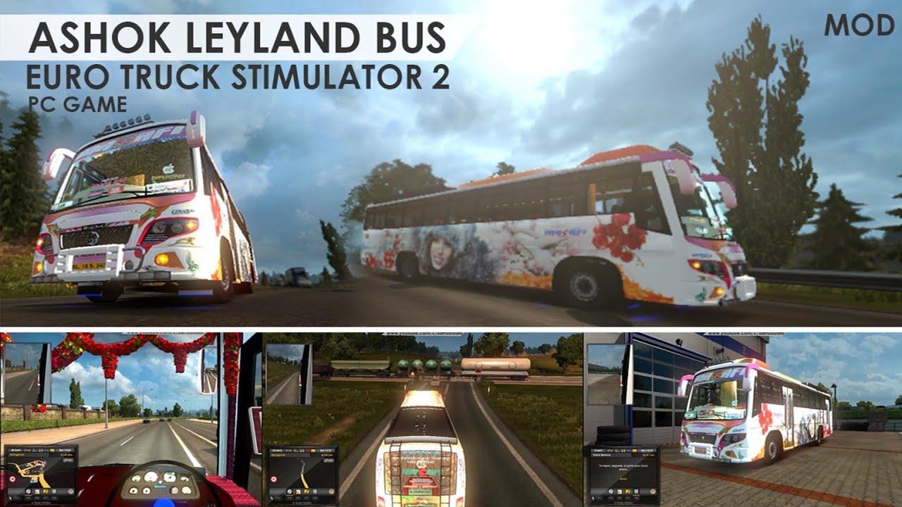 Ashok Leyland Kerala Bus in ETS2 - MOD - Euro Truck Stimulator MOD #1