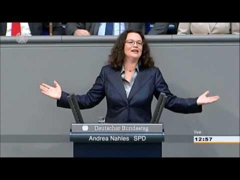 Andrea Nahles singt :)