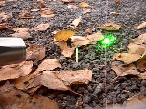 100mW green laser ALLIGATOR burning match