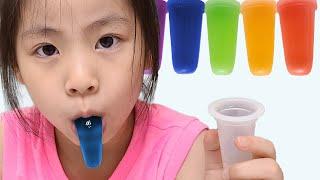 메롱젤리는 너무 재밌고 맛있어요!! 서은이와 엄마의 메롱젤리 이야기 만들기 Seoeun made Neh Boo Jelly Mukbang