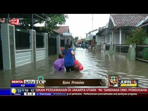 Banjir Rendam Pemukiman Padat Penduduk di Tegal