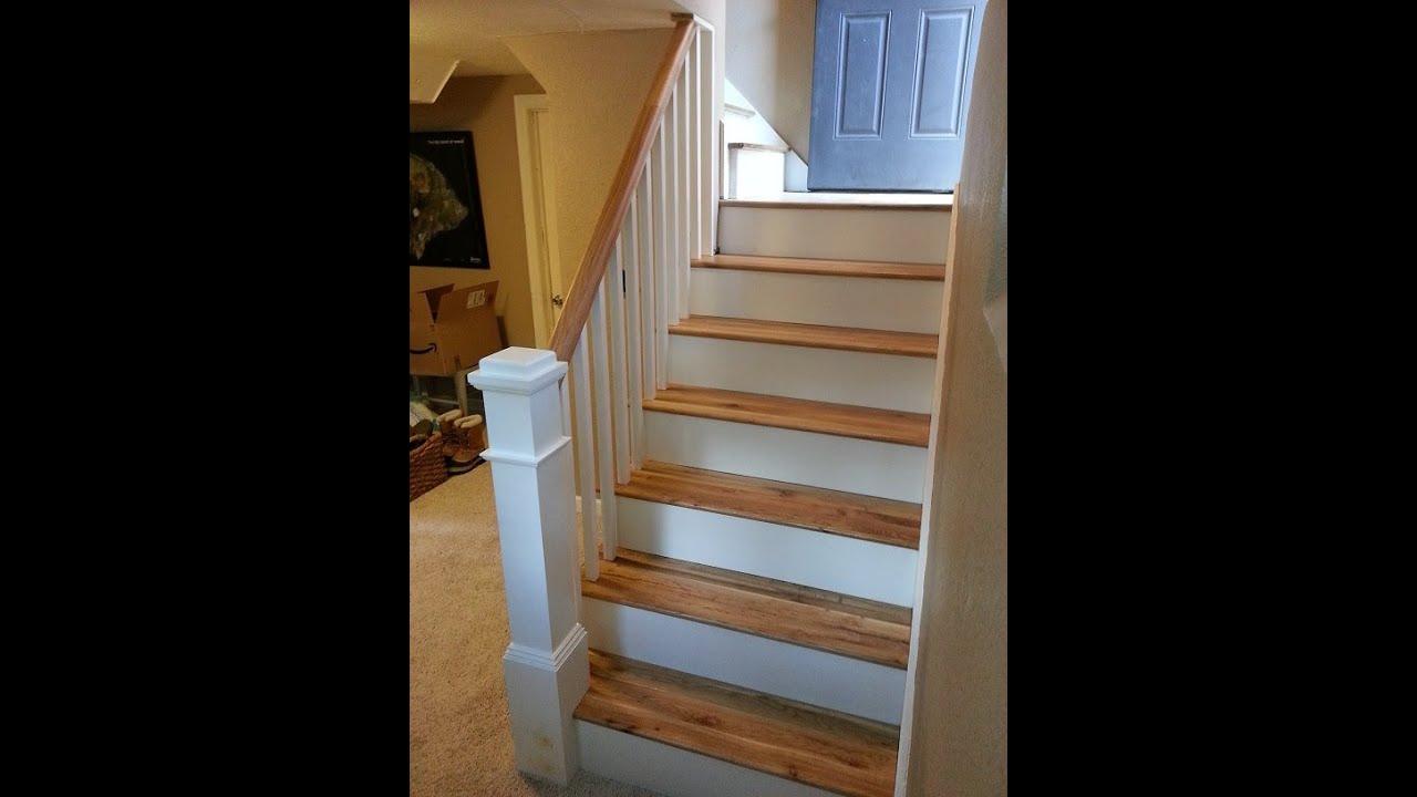 Carpet To Hardwood Stairs The Handyman Youtube | Converting Carpeted Stairs To Wood | Stair Tread | Staircase Makeover | Laminate Flooring | Wood Flooring | Risers