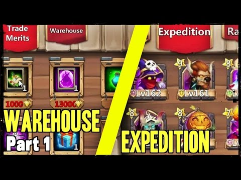 Castle Clash Update: Expedition + Warehouse #1