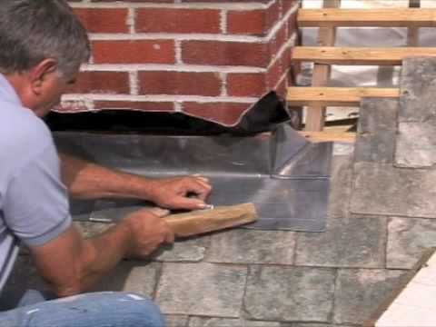 Fitting Chimney Flashing Front Apron Youtube