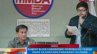 NTG: Carabuena, humingi ng tawad dahil sa kanyang pananakit sa isang MMDA traffic enforcer