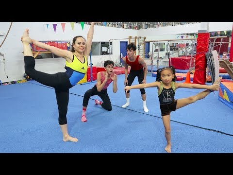 Thumbnail: OUR LITTLE SISTER VS MOM GYMNASTICS COMPETITION!