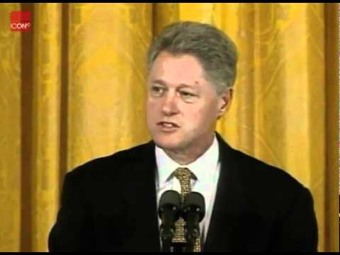 Bill Clinton apologizing for his affair with Monica Lewinsky